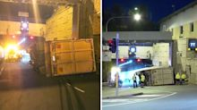 Truck rollover causes traffic chaos on route to Sydney airport