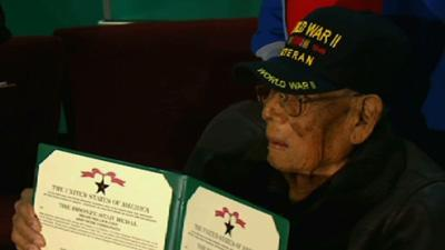 WWII Vet Gets Medals Decades After Service