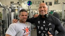 The Rock visits Doncaster gym for workout between Hobbs and Shaw scenes