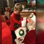 Santa captures magic of Christmas for blind boy with autism in Texas