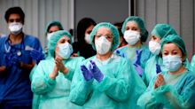 Spain Salutes Hospital Cleaning Staff During COVID-19 Pandemic