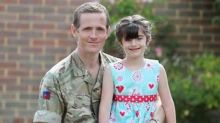 Army major walking barefoot from Cornwall to Edinburgh to fund treatment for daughter with rare disease
