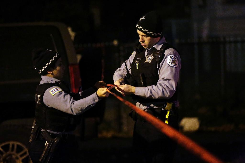 Chicago, effectively the capital of America's Midwest, hurtles toward the end of its deadliest year in nearly two decades, with over 750 murders and 3,500 shootings (AFP Photo/Joshua Lott)