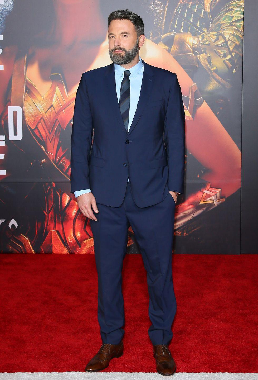 """<p>What hasn't his guy done? From winning Oscars for G<em>ood Will Hunting</em> and <em>Argo</em> to star turns in <em>Gone Girl </em>and<em> Batman v Superman: Dawn of Justice</em>, Affleck has had a stellar career. However, his personal life has taken a hit, as the father-of-three <a href=""""https://www.elle.com/culture/celebrities/a22830606/ben-affleck-jennifer-garners-divorce-settlement-is-reportedly-complete/"""" rel=""""nofollow noopener"""" target=""""_blank"""" data-ylk=""""slk:separated"""" class=""""link rapid-noclick-resp"""">separated</a> from wife Jennifer Garner in 2015 and recently <a href=""""https://www.cosmopolitan.com/entertainment/a22807915/ben-affleck-enters-rehab-intervention-jennifer-garner/"""" rel=""""nofollow noopener"""" target=""""_blank"""" data-ylk=""""slk:re-entered rehab"""" class=""""link rapid-noclick-resp"""">re-entered rehab</a>.</p>"""