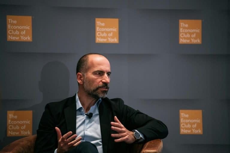 El consejero delegado de Uber, Dara Khosrowshahi, en Nueva York el 4 de diciembre de 2019