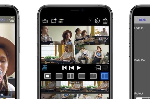 Roland's app can sync four iPhones to shoot multi-camera videos