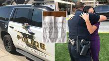Stranger's 'powerful' note leaves policeman floored