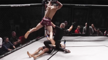 Shocking moment MMA fighter 'tries to kill' KO'd opponent