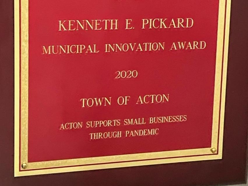 news.yahoo.com: Acton Receives Award For Work Supporting Small Business