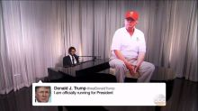 Josh Groban Hilariously Sings Trump's Tweets