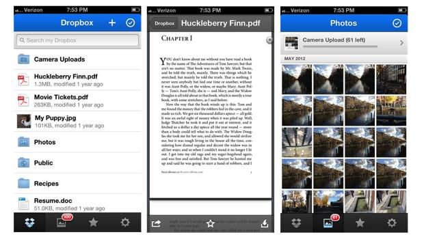 Dropbox for iOS update adds a PDF viewer and file share notifications