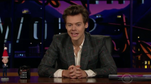 Harry Styles steps in to host The Late Late Show as James Corden's wife goes into labour