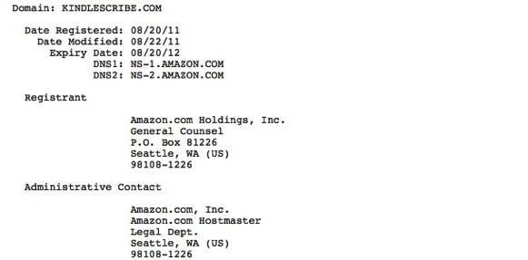 Amazon grabs two more Kindle related domains, keeps gadget writers in work
