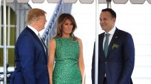 Melania Trump wears green cocktail dress by a designer beloved by Lady Gaga — and by Michelle Obama