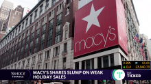 Macy's shares plummet on weak holiday sales