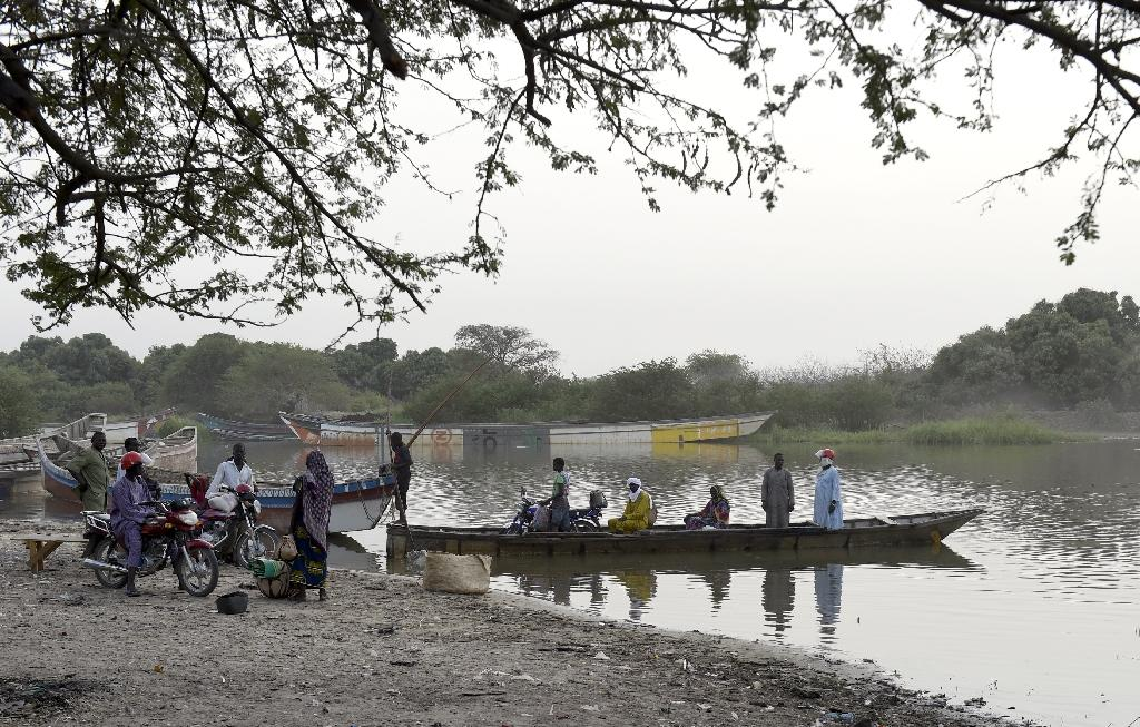 Lake Chad forms the border between Nigeria, Niger, Chad and Cameroon, and Chad hit oil on its side of the border in the late 1970s with production hitting 100,000 barrels a day in 2013 (AFP Photo/Philippe Desmazes)