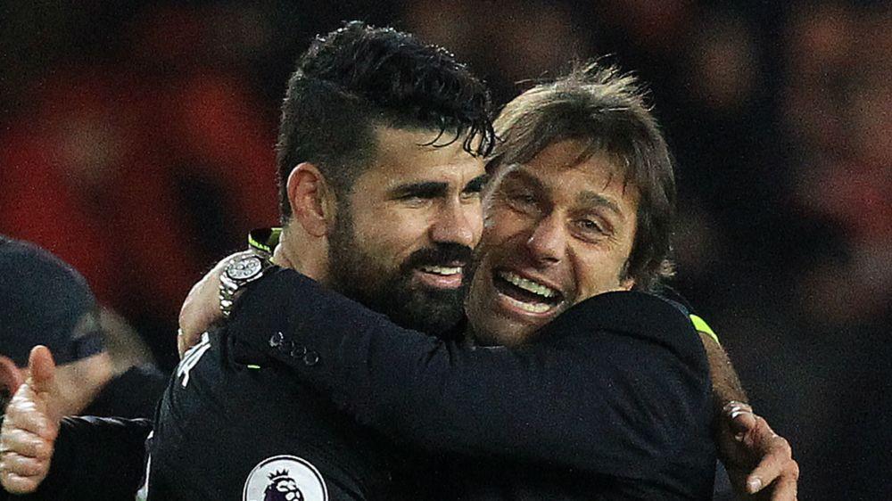 Antonio Conte hilare au moment d'évoquer le cas Diego Costa