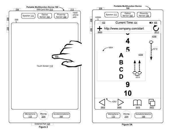 Apple granted patent for 'portable multifunction devices' with multitouch screens