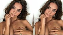 Emily Ratajkowski Just Flaunted Her Engagement Ring In A New Topless Instagram