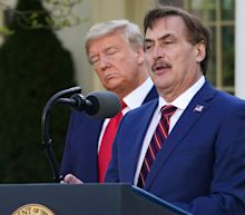Mike Lindell says his company MyPillow is suing Dominion for $1.6 billion
