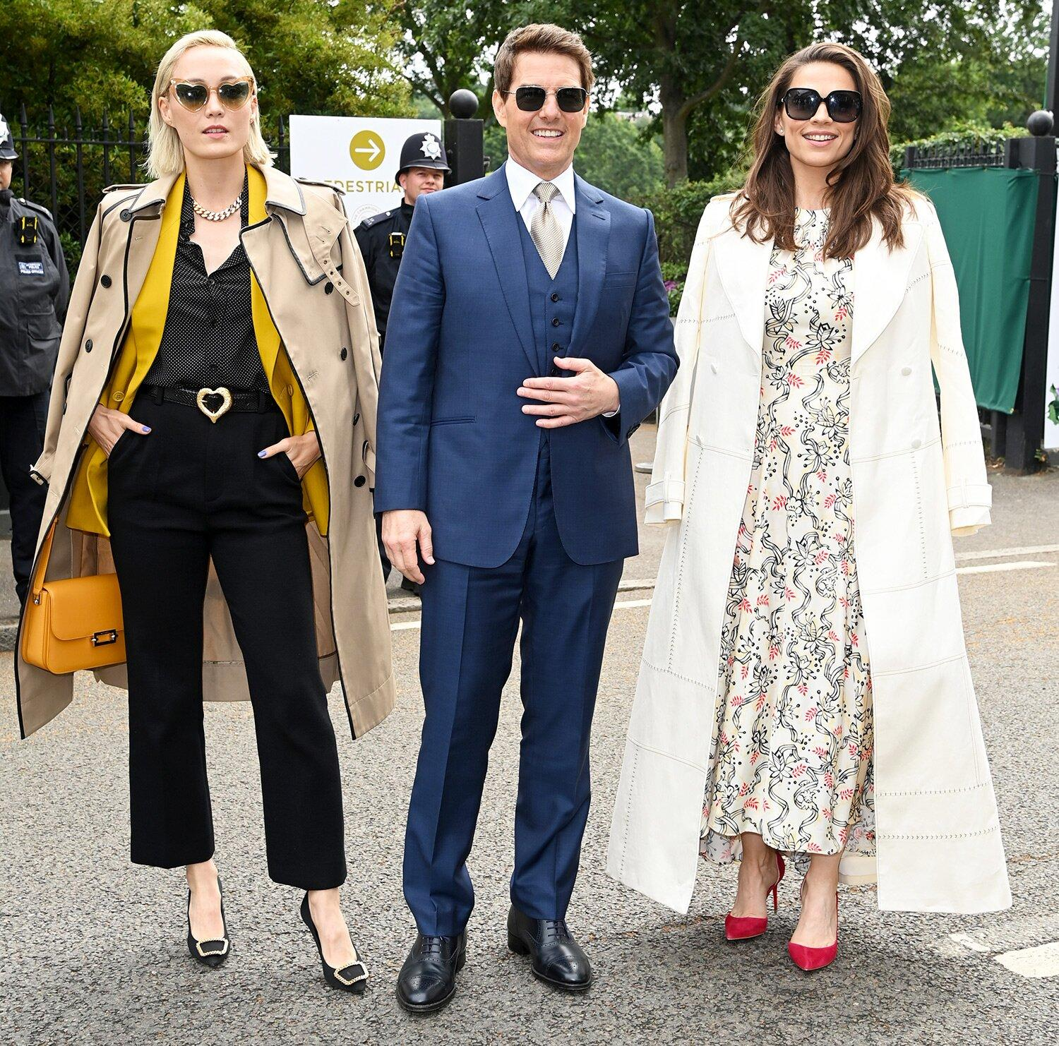 Tom Cruise Attends Wimbledon Finals with Mission: Impossible Costars Hayley Atwell and Pom Klementieff