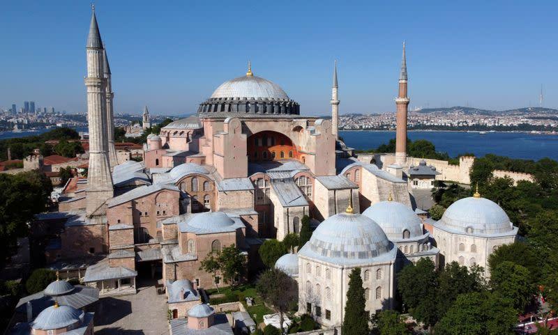 FILE PHOTO: Byzantine-era monument of Hagia Sophia or Ayasofya is seen in Istanbul