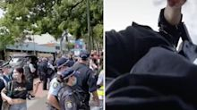 'Really violent': Police accused of extreme action as students injured in protest