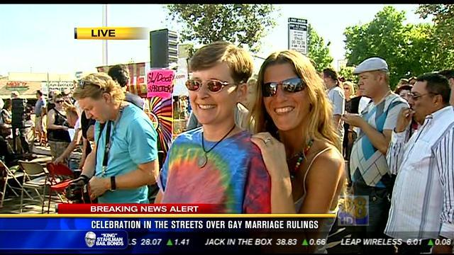 Celebration in the streets over gay marriage rulings