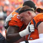 Watch: Garett Bolles Back at Broncos' Practice After Being Carted Off on Sunday