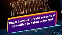 'Black Panther' breaks records at box-office in debut weekend