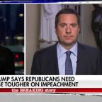 Rep. Nunes reacts to Trump calling on Republicans to be tougher on impeachment