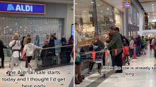 'Crazy' scenes as Aldi snow sale causes shopper frenzy