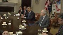 Obama urging leaders to reach fiscal cliff deal