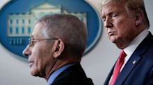Trump questions why Fauci has a higher approval rating over the coronavirus outbreak while 'nobody likes me'