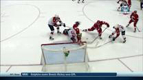 Alfredsson cleans up rebound off end boards