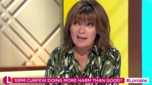 Lorraine Kelly SLAMS anti-lockdown protesters