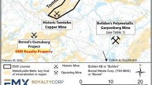 EMX Royalty Executes Agreement to Sell the Tomtebo and Trollberget VMS Projects in Sweden to District Metals