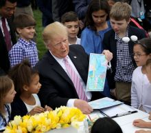 President Trump Bragged About the Border Wall to a Group of Children at the Easter Egg Roll