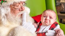 Funny Santa Photo Fails From Babies So Over Christmas