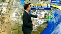Scattered snow, rain possible