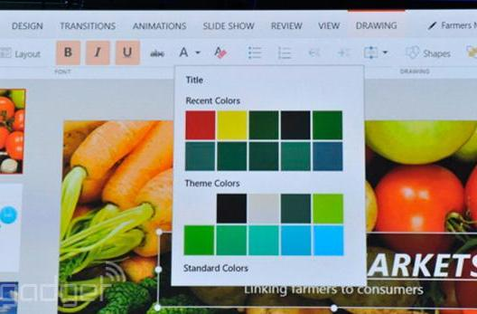 Here's what a touch-native Office for Windows looks like in action