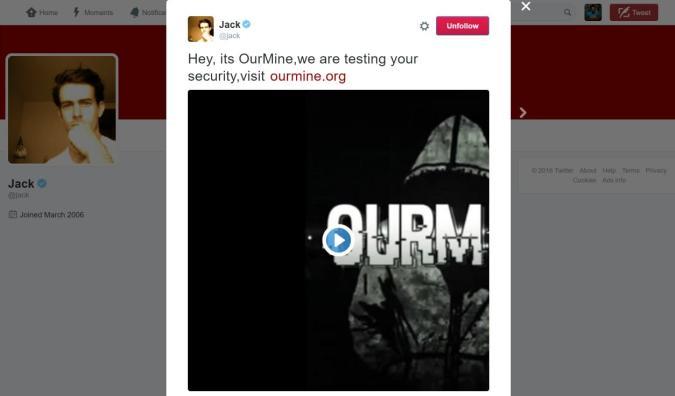 Twitter-Account von CEO Jack Dorsey gehackt