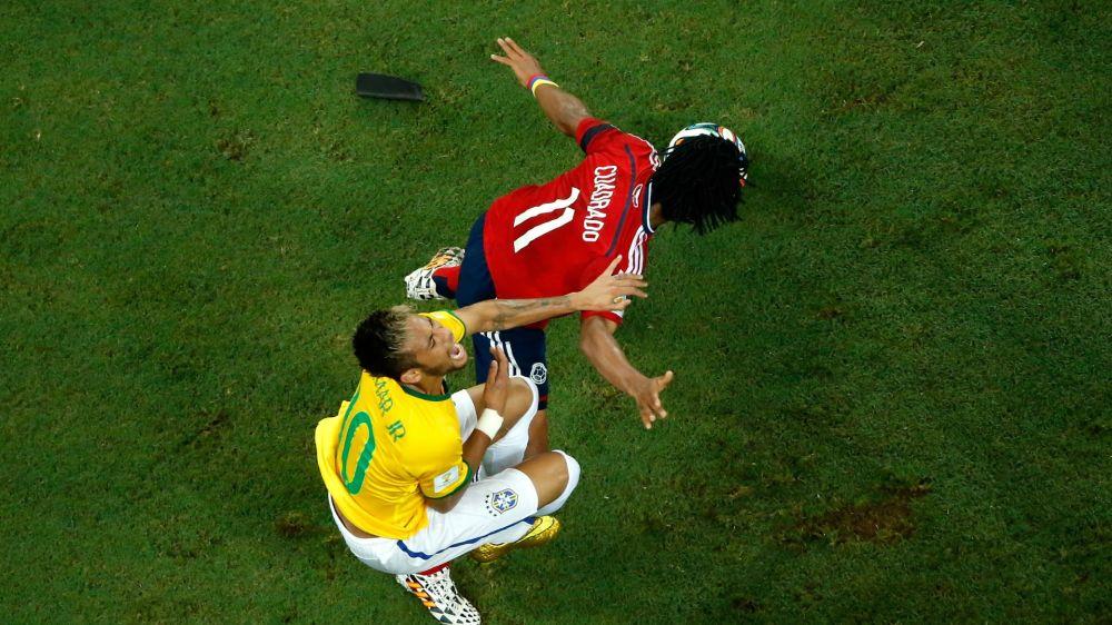 Neymar - Cuadrado: o duelo das Eliminatórias que se repete na Champions League