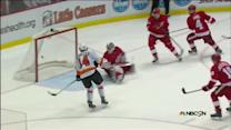 Sean Couturier redirects one by Jimmy Howard