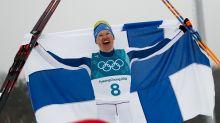 AP PHOTOS: Highlights of Day 15 at the Pyeongchang Olympics