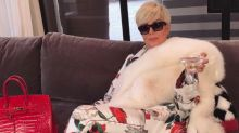 Kris Jenner briefly tries life as a blonde