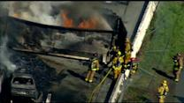 Raw Video: Flinn Springs salvage yard fire