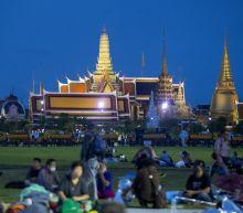 Thai protesters install plaque symbolizing democracy