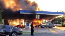 Lamborghini gets barbecued at St. Louis gas station