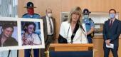 Commissioner of Public Safety Amanda Price announces that the murder case of Jessica Baggen was solved through genetic genealogy. (Alaska State Troopers)